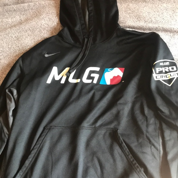 new high really cheap reasonable price Major League Gaming MLG Nike thermafit hoodie XL